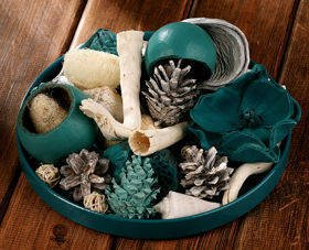Arrangement of dried plants 25-30 cm TURQUOIS