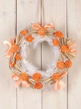Arrangement peachy wreath ca.30cm