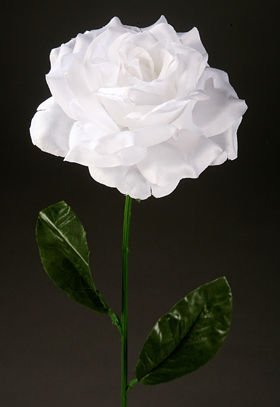 Artificial flower Rose on a branch -white
