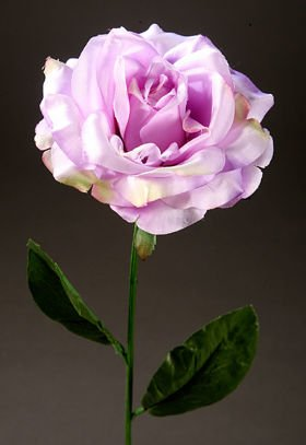 Artificial flower Rose on the branch - light purple