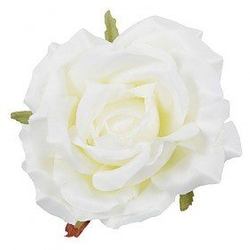 Artificial roses developed white WHITE 3 pcs / pack