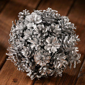 Ball of silver cones, 14-20 cm