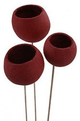 Bell cup on stick, 12 pcs/pkg, claret