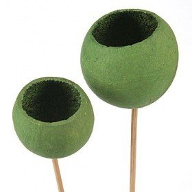 Bell cup on stick, 3 pcs/pkg, green