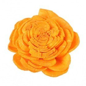 Belly flowers, 3 cm, 24 pcs/pkg - bright orange
