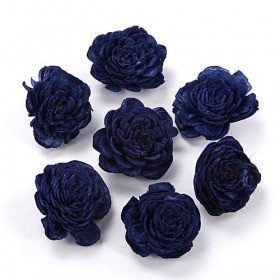 Belly flowers, 4 cm, 10 pcs/pkg - navy blue