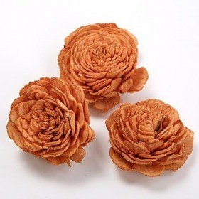 Belly flowers 5 cm 10 pcs/ pkg - light brown