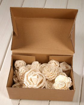 Belly flowers 6-8 cm, 6 pcs/pkg - white