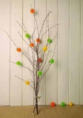 Birch bouquet of spring branches with cotton 40-50 cm