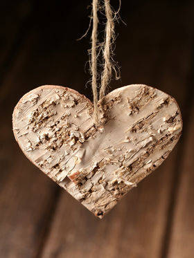 Birch hearts 6/6 cm 3 pcs / pack