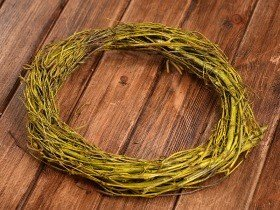 Birchen wreath ca.25cm- dark yellow