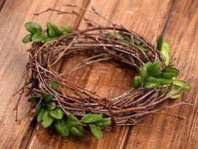 Birchen wreath with boxwood ca.25cm