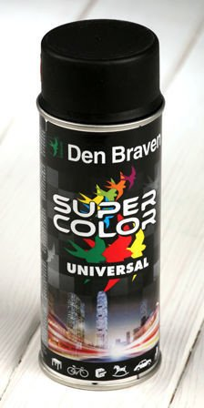 Black spray paint 400 ml RAL 9005