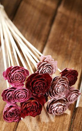 Bouquet of 6 Cedar Roses Pink
