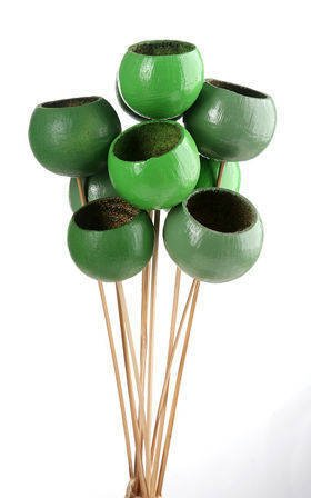 Bouquet of Bell cups in tones od Green 9 pcs/pkg