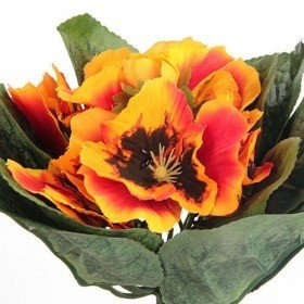 Bouquet of bright orange pansies - 20 cm