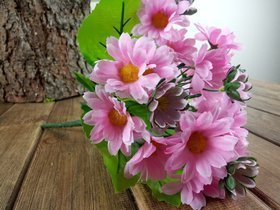 Bouquet of pink camomile - 24 cm