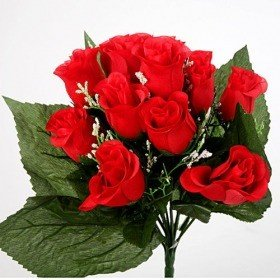 Bouquet of roses in red buds - 30 cm