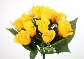 Bouquet of roses in yellow buds - 30 cm