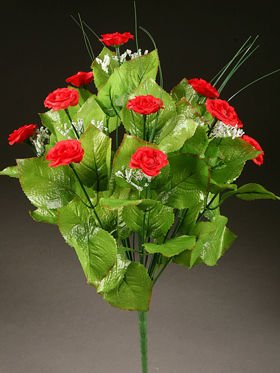 Bunch of 12 Red Roses (28cm)