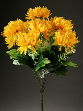 Bunch of 7 Yellow Chrysanthemums (50cm)