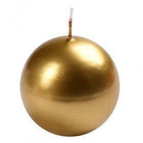 Candle ball, diameter 7 cm – gold metallic