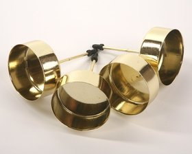 Candle holder diameter 4 cm gold 4 pcs / pack