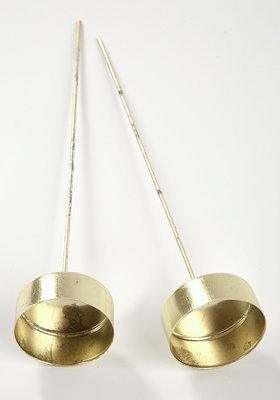 Candle holder diameter 4 cm, length 22 cm gold 2 pcs / pack