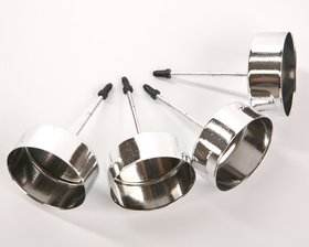 Candle holder diameter 4 cm silver 4 pcs / pack