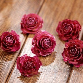 Cedar Wood Roses 6 pcs./pack Pink