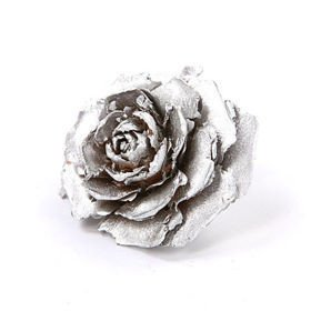 Cedar Wood Roses 6 pcs./pack Silver Lacquered