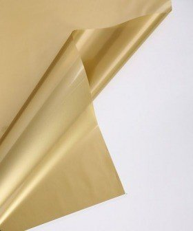Cellophane 50 x 70 cm, matt lacquer, 50 sheets/pkg - gold