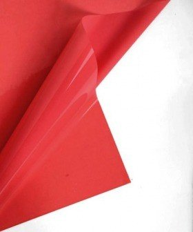 Cellophane 50 x 70 cm, matt lacquer, 50 sheets/pkg - red
