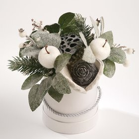 Christmas Arrangement- White in Nature 14/22cm
