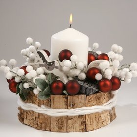 Christmas Arrangement- White in Nature15/22 cm