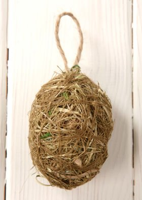 Christmas balls made of hay 6 cm 3 pcs / pack - natural Christmas tree decoration