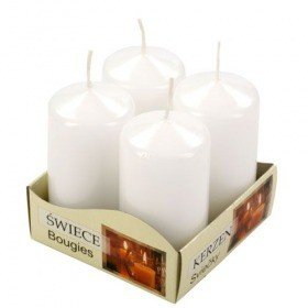 Christmas candle Candles 60/80 mm set of 4 - cream