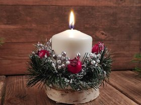 Christmas candle headpiece 8/12 cm