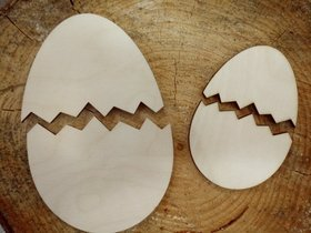 Christmas decorations - 9.14 cm egg shells