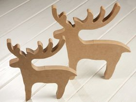 Christmas decorations DIY Wooden reindeer standing 20 and 26 cm