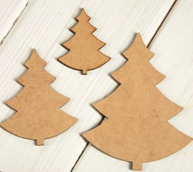 Christmas decorations wooden Christmas trees 5,7,10 cm 3 pcs / pack