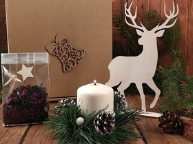 Christmas gift forest set