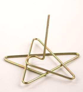 Christmas ornament, Christmas ornament, Metal Star 8 cm gold