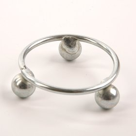 Christmas ornament, Christmas ornament, metal platform with 4.5 cm silver circles