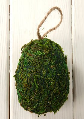 Christmas ornament with decorative moss 10-12 cm