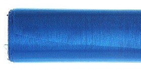 Christmas ribbon Organza fabric, tulle on a roll hemmed 12/900 cm blue