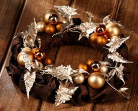 Christmas wreath Chocolate Gold