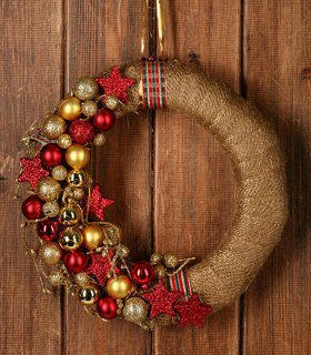 Christmas wreath Gold Christmas 25-30 cm