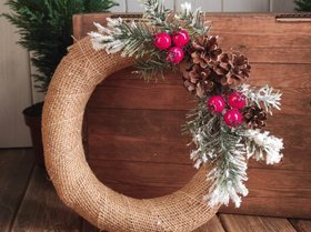 Christmas wreath, diameter 25-30 cm
