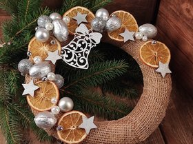 Christmas wreath fragrant oranges 25 cm